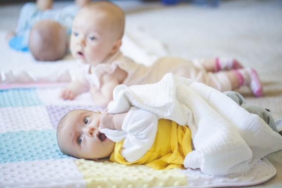 Babies on floor