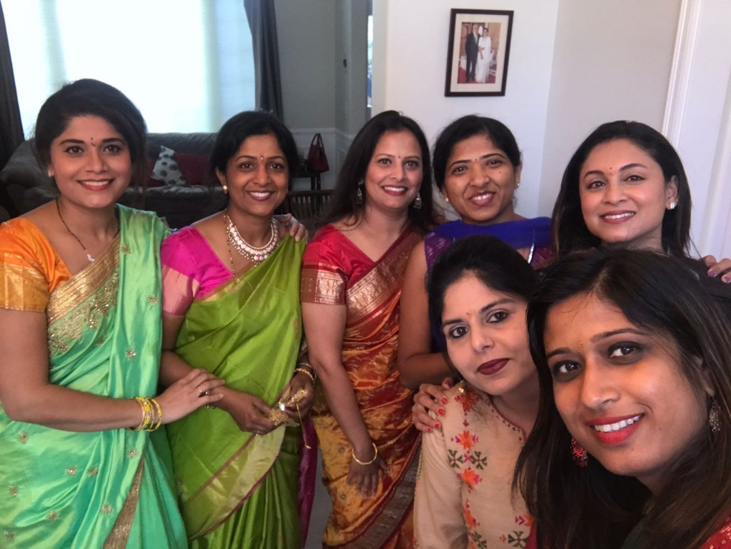 Swarnima and a group of women